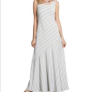 Chico's metallic striped maxi dress, scoop neck 0